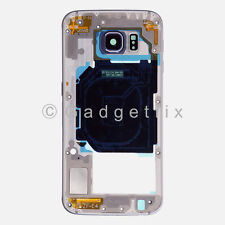US Black Samsung Galaxy S6 G920A G920T Back Housing Frame Bezel + Camera Lens