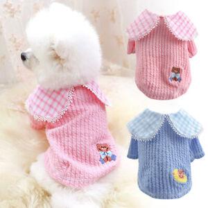 Cute Small Dog Cat Sweater Jumper Pet Pajamas Girl Boy Shirt Soft Clothes XS-XL