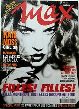 MAX 1998: KATE MOSS_MATT DILLON_JOHNNY HALLYDAY_LAETITIA CASTA_MONICA BELLUCCI