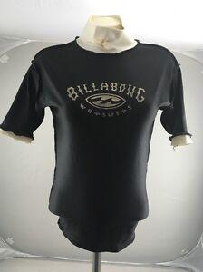 Vintage 90s BILLABONG AUSTRALIA black white surfer beach swim rash guard shirt