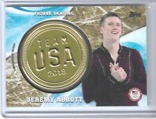 RARE 2018 TOPPS OLYMPICS JEREMY ABBOTT GOLD INSIGNIA CARD ~ 09/25 FIGURE SKATING
