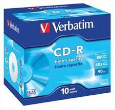 VERBATIM CD-R ad alta capacità 800 MB JEWEL CASE 10 PZ