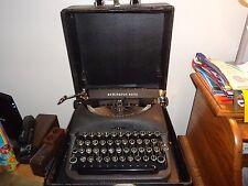 Remington Rand Art Deco 1945-49  Model 5 Typewriter & Case  WORKS!