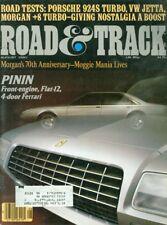 1980 Road & Track Magazine: 4-Door Ferrari/Morgan +8 Turbo/Porsche 924S/VW Jetta