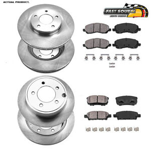 For Sebring Jeep Compass Patriot 200 Front And Rear Brake Rotors & Ceramic Pads