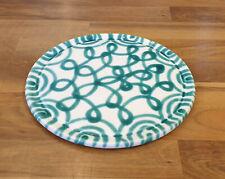 Gmundner Keramik grün geflammte Kuchenplatte