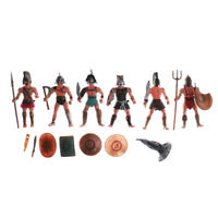 6X Plastic Ancient Roman Gladiator Warriors Military Action Figure Models Toy JR