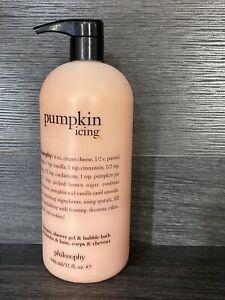 Philosophy Pumpkin Icing Shampoo Body Wash & Bubble Bath 32 oz NEW