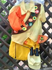 NWT EURO DISNEY STORE UK RUSSELL UP MOVIE BOYS COSTUME COMPLETE! 8 PC SET XS 3 4