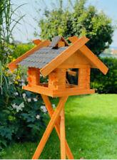 Rechteckiges Vogel Futter Haus  Futterstelle aus Holz Vogelhaus mit Ständer Brau