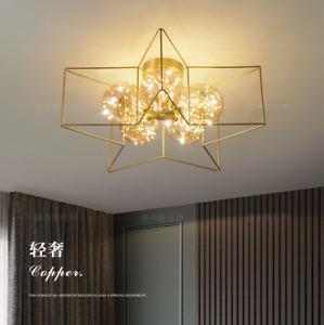 Modern Brass Chandelier Light Ceiling Fixture Lamp Kid's Flush Mount Lighting