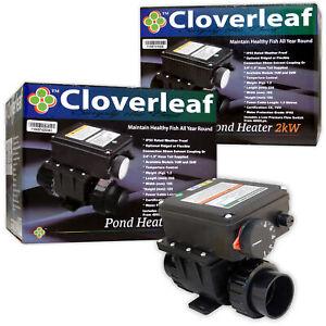 Cloverleaf Pond Heaters 1kW/2kW Weatherproof Temperature Control Healthy Fish