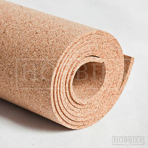 Cork Sheet Rolls Landscape Mats Model Railways Sizes Approx 2 - 3mm Thick Javis
