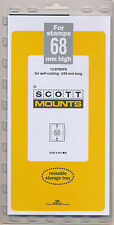 Prinz Scott Stamp Mount 68/240 - BLACK Background - Pack of 10