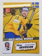 2018 BY cards IIHF WC Gold Medal Winner Sweden #46 Viktor Arvidsson #/25