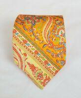 Polo Ralph Lauren Men's 100% Silk Neck Tie Paisley 60L 3.25W Made in Italy
