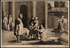 STAMPA ORIGINALE 1600 BIBLICA DOMENICO FETTI