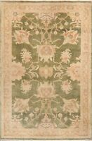 Antique Style Oushak Egyptain Vegetable Dye Hand-Knotted Area Rug 4x6 Carpet
