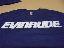 EVINRUDE Front BRP Back T-Shirt Dark Blue w/ White Print Size Small Adult NEW