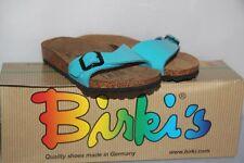 BIRKI ' S - Mules Sandales Menorca Bleu Turquoise 130183 -  T : 28 neuf