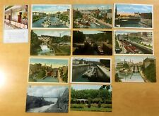 Lot of 12 Antique & Vintage Postcards ALL LOCKPORT, NY 1908-1960s Barge RR Canal