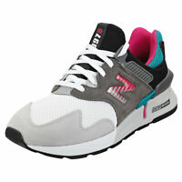 New Balance 997 Sport Mens Grey Multicolour Suede & Textile Fashion Trainers
