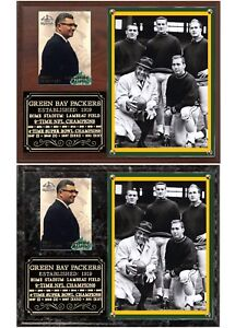 Lombardi Starr Green Bay Packers Legends Photo Card Plaque