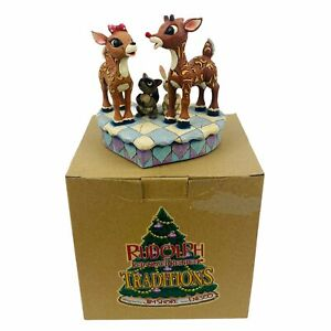 Jim Shore Rudolph and Clarice, #4009800 w/ Box - Rudolph the Red-Nosed Reindeer