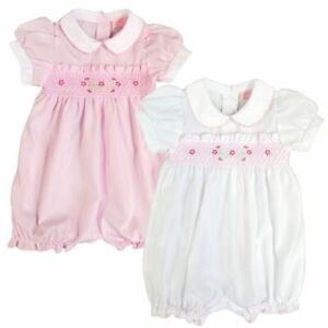 Baby Girl Smocked Romper Play Suit Spanish Style