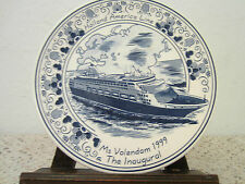 "Nautical, Blue Delfts ""Holland America"" Plate"