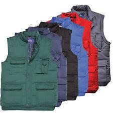 Portwest Mens Padded Sleeveless Gilet Bodywarmer Jacket Winter Warm Lined Coat