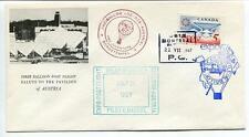 1967 Ballonpost First Post Flight Pro Juventute Aerostato OE-DZB Expo Austria