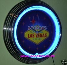Welcome las vegas neonuhr sign bar neon signs Clock reloj casino fan News