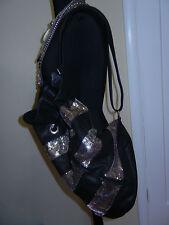 LIMI feu Black Leather & Metal Satchel Bag Purse NWT