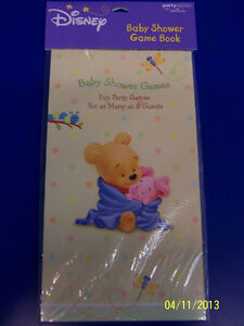 RARE Winnie the Pooh Baby Shower Disney Cute Party Activity Games Game Book *