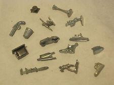 15 small metal game pieces token t.v. Spiderman shoe gun Venom  Monopoly Clue
