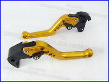 Honda CBR1000RR (2004-2007), CNC levers set short gold black adjusters, F33/H33