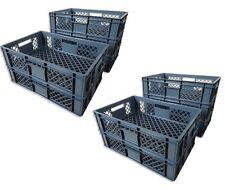 10 x Brotkiste Obst- Gemüsebox Lagerkiste Transportbox Gitterbox grau 15cm Höhe