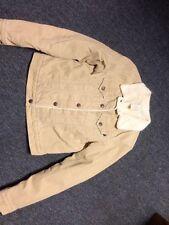Abercrombie & Fitch Coat Jacket Tan Size Medium Button Down Pocket Design