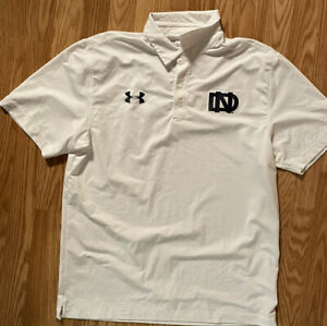 Notre Dame Football Team Issued Under Armour Rockne Polo Large