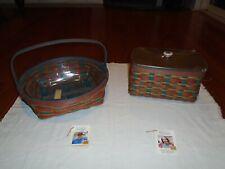 Longaberger Fall in Love Round Pie Basket/Family Tissue Basket-Lot-Easter Basket