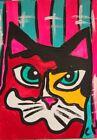 "ACEO ORIGINAL CAT ""CALICO"" ACRYLIC 2000-now"