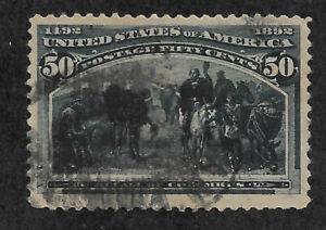 US #240 (1893) 50c Columbian Commemorative: Recall of Columbus - Used - VF/XF