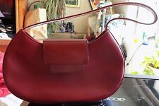 "Kenneth Cole Burgandy Leather Handbag 11"" X 6"" / 9"" Strap Drop - NWOT"