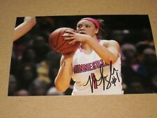 Rachel Banham Signed Autographed 4X6 Minnesota Gophers Photo # 01 Lynx Wnba