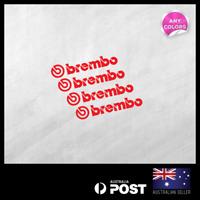 4X BREMBO Small Sticker Decal Motocross Bumper Wheel Brake Car 95x18mm
