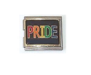 9mm Italian Charm  E95 LGBT Pride  Fits Classic Size Bracelet