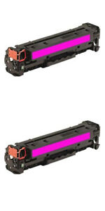 2 Compatible Magenta Toner To Replace HP 125A M ,128A M,131A M,Canon 716 M,731 M