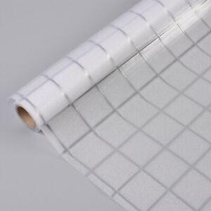 "Small Grid No Glue Static Decorative Privacy Window Films for Glass 17.7""x78.7"""