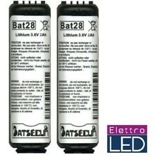 2 Batterie per allarme  BAT28 BatLi28 Daitem Logisty 3.6V 2Ah LITIO BATLI28